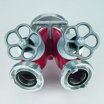 Divisore in alluminio con saracinesche
