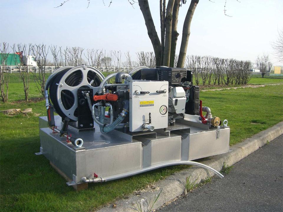 Modulo antincendio dt-300-fb flat benzina con n.1 naspo